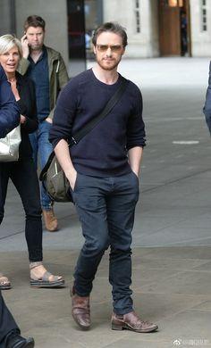 James McAvoy arrives at the BBC Radio 2