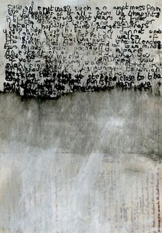 DOUG - type inspiration - wiped[out] Helen Lyôn Art Blanc, Encaustic Art, Art Moderne, Letter Art, Mark Making, Word Art, Mixed Media Art, Textile Art, Painting & Drawing