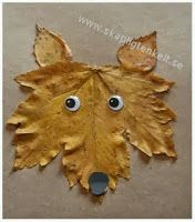 Fall fox made out of a leaf - Easy autumn crafts