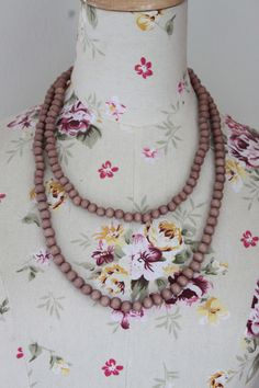 awesome Wooden bead necklace