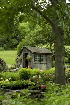 Charming country garden shed.