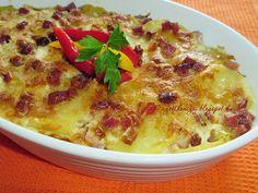 Elkészítési idő: 60 perc Császárburgonya Hozzávalók: 50 dkg burgonya 5 - 10 dkg császárszalonna 15 dkg reszelt sajt 1 dl te...