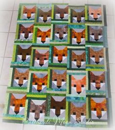 Fancy Fox Shared by www.nwquiltingexpo.com @nwquiltingexpo #nwqe #quilting