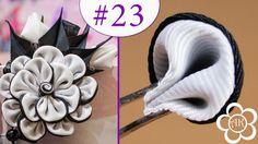 Двухсторонний лепесток Канзаши / Все лепестки Канзаши #23 / Kanzashi