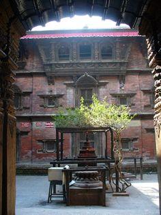 Old town Kathmandu  - speaking in courtyards