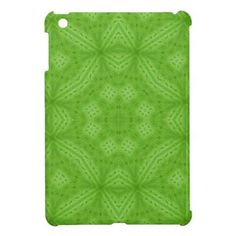 Green wood abstract pattern iPad mini cases