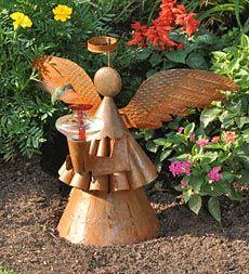 Tin Angel Hummingbird Feeder