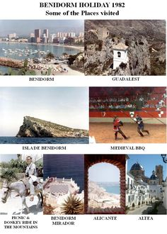 Benidorm Holiday 1982 - some of the places I visited  - photo collage by Robert Bovington  https://plus.google.com/+RobertBovington/about