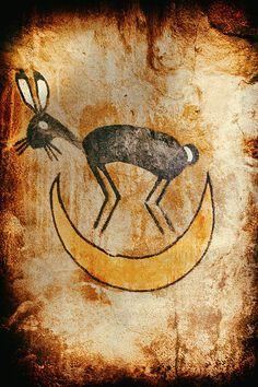Native American Rabbit Pictograph - photograph by Jo Ann Tomaselli.  #joanntomaselli #fineartphotography #nativeamerican