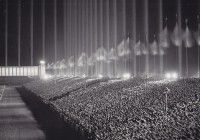 Nazi rally in the Cathedral of Light, c. 1937