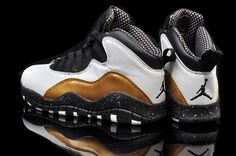 check out 53abc 9c8be Retro Air Jordan X (10) White Black Yellow-025 Custom Jordans