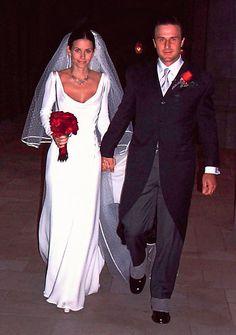 Courteney Cox. #casamento #vestidodenoiva #Valentino