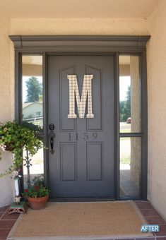 Good idea for my french doors on the front of the house. Make it look more front entry-ish.