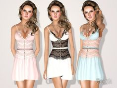 Sims 3 Finds - Lace Corset Bra Dress - Jun by Cleotopia at The Sims Resource