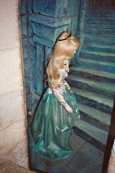 Aurora in her blue gown from the Disneyland walk-thru attraction in 1990