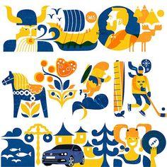 Volkswagen on Look at me - Sweden Illustrations by Iv Orlov