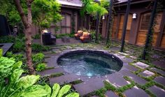 A garden impluvium/pool that is quite cute.