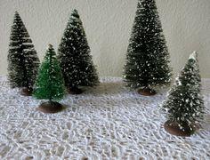 Vintage Christmas Trees Miniature Christmas Trees by mybonvivant
