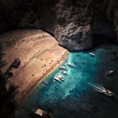 Navagio Beach, Zakynthos, Greece (or Shipwreck Beach ~ breathtaking!)