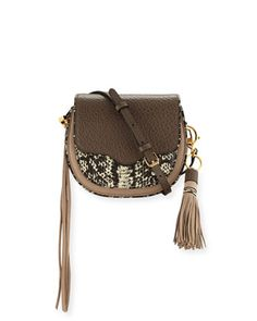 Suki+Mini+Leather+Crossbody+Bag,+Taupe+Multi+by+Rebecca+Minkoff+at+Neiman+Marcus.