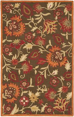 Safavieh Blossom Country & Floral Indoor Area Rug Brown / Multi