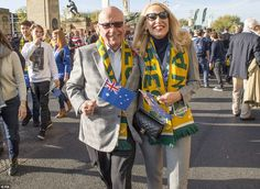News Corp Executive Chairman Rupert Murdoch arrived with Jerry Hall this afternoon with bo...