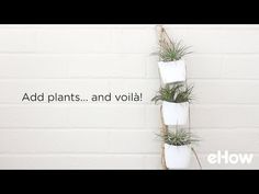 These adorable hanging planters are made with recycled plastic bottles. They can be used in various ways and made with several vessels or just one.