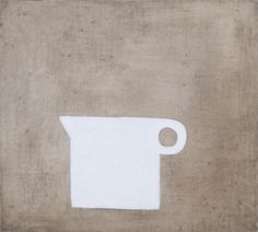 William Scott, Jug White on Grey Brown, 1978, Oil on canvas, 50.8 × 50.8 cm / 20 × 20 in, Private collection