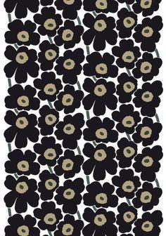 Fabric Designs Pieni Unikko 2 cotton fabric by Marimekko - Marimekko Wallpaper, Marimekko Fabric, A Level Textiles, Scandinavia Design, Haida Art, Tea Design, Japanese Patterns, Beginner Painting, Silk Screen Printing
