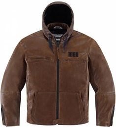 Blouson Icon 1000 The Hood Brown - Kulture Moto