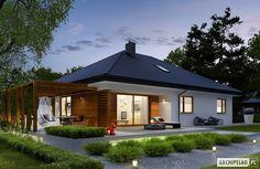 Kerala House Design, Small House Design, Bungalow House Plans, House Floor Plans, Small Villa, Kerala Houses, Cute House, Prefab Homes, Design Case