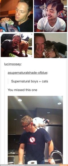 One is one of the most adorable things ever. I feel like Mark and his cat are…