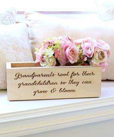 Cream & Brown 'Root for Grandchildren' Personalized Planter Box by Morgann Hill Designs #zulily #zulilyfinds