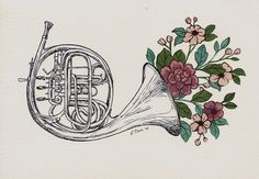 french horn flowers - Google Search