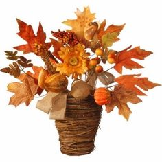 Fall Wall Decorations Harvest Maple Leaf Wall Basket National Tree Co. On Sale…