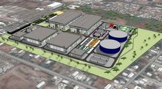 Rendering of NSC Agua desalination plant proposed for Baja California. Rosarito Beach, Water Resources, Baja California, Moving Forward, Proposal, Public, Plant, Projects, Log Projects