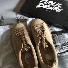 Public Desire Beige Suede Creepers New , never used. Bought but never fit . Originally $40 + $5 shipping. From the UK . First Come First Serve . Any Offers will be reviewed. U.K. Size 10 Public Desire  Shoes Sneakers
