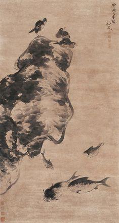 Zhu Da: Fish and Birds | Chinese Painting | China Online Museum