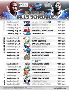 Buffalo Bills Schedule 2014-2015
