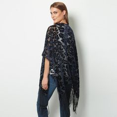 #Avon Rich Velvet Burnout Wrap. Layer in style by throwing on the navy blue wrap with floral burnout velvet details. Reg. $44.99. Shop online with FREE shipping with any $40 online Avon purchase. #CJTeam #Avon #Style #Fashion #New #RichVelvet #Velvet #Wrap #Trending #Avon4me #C24 Shop Avon fashion online @ www.TheCJTeam.com