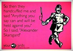 Alexander Skarsgard @Brittany Horton Parise