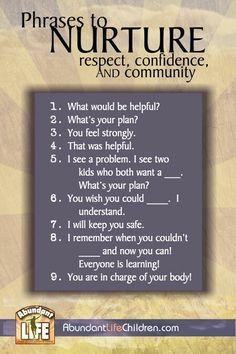 Phrases to nurture
