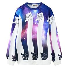 Harajuku cute galaxy cat sweatshirt sold by Cute Kawaii {harajuku fashion}. Shop more products from Cute Kawaii {harajuku fashion} on Storenvy, the home of independent small businesses all over the world. Hoodie Sweatshirts, Cat Sweatshirt, Printed Sweatshirts, Pullover Sweaters, Cat Sweaters, Galaxy Hoodie, Galaxy Shirts, Harajuku Mode, Harajuku Fashion