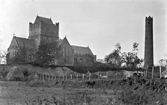Church (exterior) and Tower, Howth, Co. Dublin Published / Created: [between ca. 1900-1939]. In collection: Eason Photographic Collection