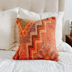 Kilim Pillow for your Bedroom. - Lucky Collective #LuckyCollective
