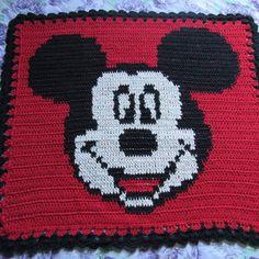 Tapete de crochê personalizado Mickey