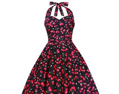 Lady Mayra Vivien Black Red Cherry Dress Polka Dot Vintage 50s Rockabilly Clothing Pin Up Retro Swing Summer Prom Bridesmaid Party Plus Size