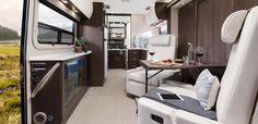 2017 Unity U24MB shown in Espresso Brown Cabinetry with Glamour Package and Mirage Décor