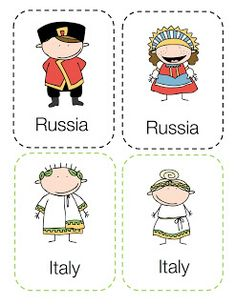 preschool printables around the world kids - Children Printables