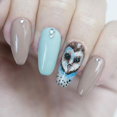 Nailpolis Museum of Nail Art | Owl nails by Meya Nina